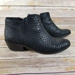 Same Edelman Snake Print Boots